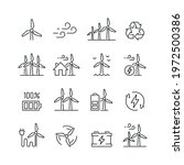 wind turbine related icons ...   Shutterstock .eps vector #1972500386