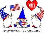 patriotic gnomes celebrating... | Shutterstock .eps vector #1972536353