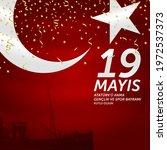 19 mayis ataturk u anma ... | Shutterstock .eps vector #1972537373