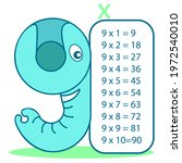 multiplication table with... | Shutterstock .eps vector #1972540010