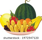 plate with fruits for...   Shutterstock .eps vector #1972547120