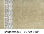 Lace Border Over Burlap