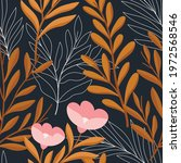 hand drawn floral pattern....   Shutterstock .eps vector #1972568546
