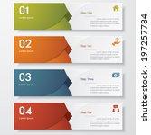 design clean number banners... | Shutterstock .eps vector #197257784