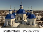 Blue Domes Of The Russian...