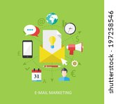 flat design concept  e mail... | Shutterstock .eps vector #197258546