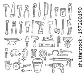 construction tool collection  ...   Shutterstock .eps vector #197260190
