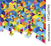 colorful cubes | Shutterstock .eps vector #197260790