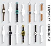 watch vector set | Shutterstock .eps vector #197262866