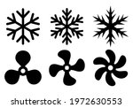 snowflake and fan  cooling... | Shutterstock .eps vector #1972630553
