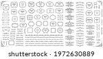 calligraphic design elements .... | Shutterstock .eps vector #1972630889