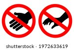do not touch vector signs... | Shutterstock .eps vector #1972633619
