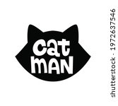 Catman Funny Design With Cute...