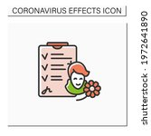 recovered patient color icon.... | Shutterstock .eps vector #1972641890