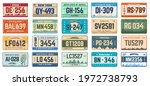 car number plates. vehicle use... | Shutterstock .eps vector #1972738793