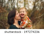 Mother And Son Laughing...