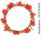 Round Wreath Of Poppies ...