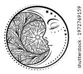 ethnic cresent moon motif....   Shutterstock .eps vector #1972769159