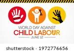 world day against child labour  ... | Shutterstock .eps vector #1972776656