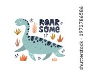 cute dinosaur for nursery... | Shutterstock .eps vector #1972786586