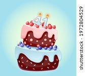 forty one years birthday cake... | Shutterstock .eps vector #1972804529