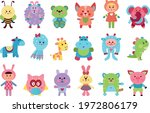 fluffy toy sewn from textile...   Shutterstock .eps vector #1972806179