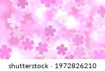 cherry blossoms and lights.... | Shutterstock . vector #1972826210