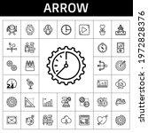 arrow icon set. line icon style....