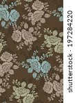 seamless pattern with beautiful ... | Shutterstock .eps vector #197284220