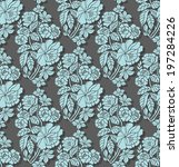 seamless pattern with beautiful ... | Shutterstock .eps vector #197284226