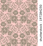 seamless pattern with beautiful ... | Shutterstock .eps vector #197284250