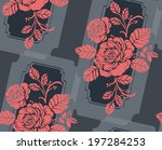 seamless pattern with beautiful ... | Shutterstock .eps vector #197284253