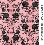 seamless pattern with beautiful ... | Shutterstock .eps vector #197284256