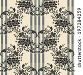 seamless pattern with beautiful ... | Shutterstock .eps vector #197284259
