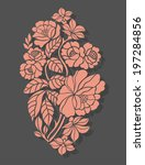 beautiful rose flowers on the... | Shutterstock .eps vector #197284856
