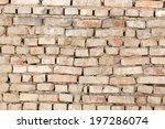 background of a brick wall | Shutterstock . vector #197286074