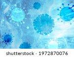 coronavirus under the... | Shutterstock . vector #1972870076