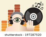 illustration of monster dj... | Shutterstock .eps vector #197287520