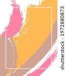 vertical frame with paint brush ... | Shutterstock .eps vector #1972880873