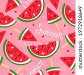 seamless pattern ice cream...   Shutterstock .eps vector #1972918649