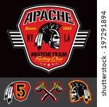 Apache skull motor team graphic set