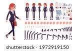 businesswoman  red haired... | Shutterstock .eps vector #1972919150