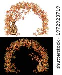 ceramic vase with autumn maple...   Shutterstock .eps vector #1972923719