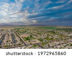 Aerial View Urban Landscape...