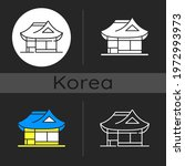 hanok dark theme icon.... | Shutterstock .eps vector #1972993973