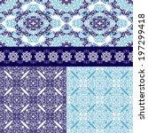 set of seamless pattern border...   Shutterstock .eps vector #197299418