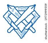 emblem of defender sketch icon... | Shutterstock .eps vector #1972999559