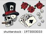 gambling vintage colorful... | Shutterstock .eps vector #1973003033