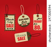 black friday sales tag and... | Shutterstock . vector #197300594