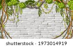 wall  branches liana  ivy.... | Shutterstock .eps vector #1973014919